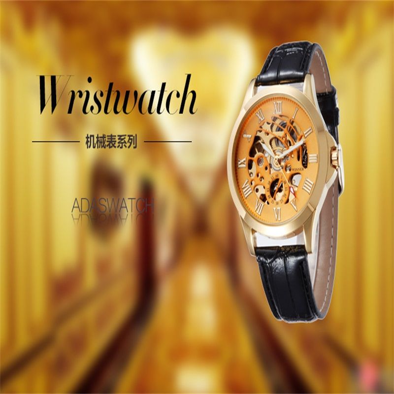 Hot Sale New Fashion Production Of Fully Mechanical Analog Watches Mechanical Man Wristwatches Golden Bronze optimization of citric acid production from potato starch hydrolyzate