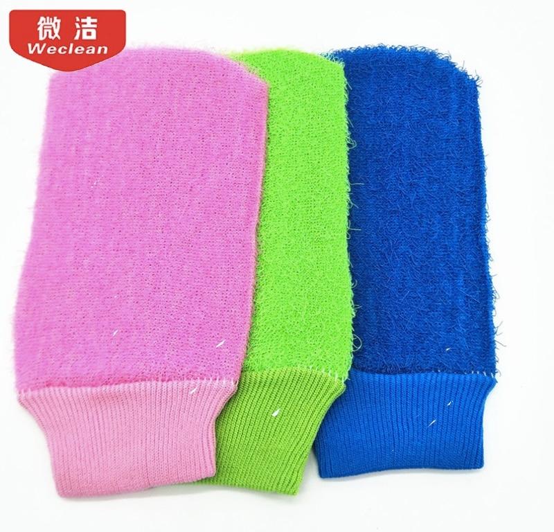 Nylon Cuozao bath bath gloves exfoliating gloves wholesale Color random