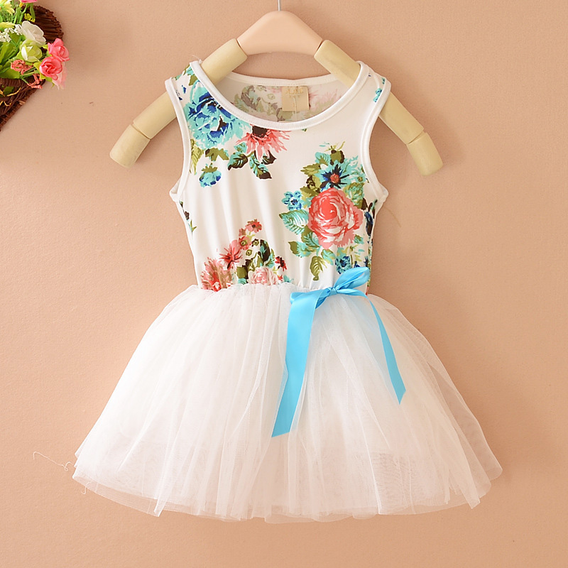 Kids Clothes Casual Girl Dress Summer Style Sleeveless Patchwork Tutu Dress Vestidos Mujer Children Clothing Party Dress D10 children girl tutu dress super hero girl halloween costume kids summer tutu dress party photography girl clothing