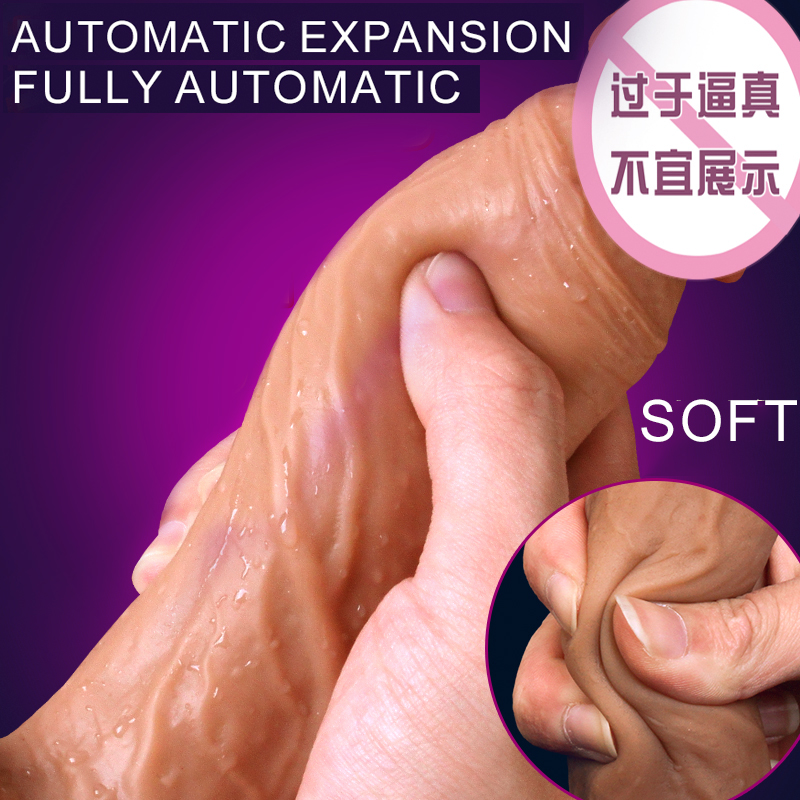 Super Soft Silicone Stretching Dildo Realistic Suction Cup Dildo Male Artificial Penis Dick Adult Sex Toys For Women Masturbator auto handfree retractable piston pricky male masturbation cup for men penis massage aircraft cup passion cup adult sex products