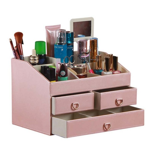 Makeup Organizer With Drawer Cosmetics Storage Box Jewelry Collection Tray  For Home Decor /Bathroom /