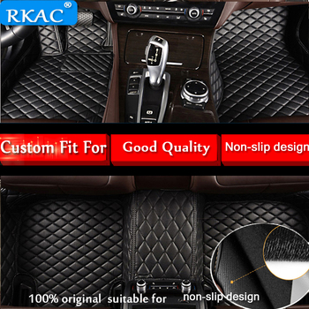 RKAC Leather Car floor mats for BMW 5 series E60 E61 F07 F10 F11 GT 518i 520i 523i 525i 528i 530i 535i 540i leather car carpets