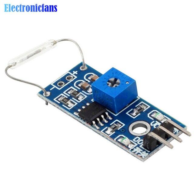 Reed-Sensor Modul Magnetron Modul Reed Schalter MagSwitch Für Arduino Digitale Schalter Ausgang DC 3,3 V-5 V Breite spannung