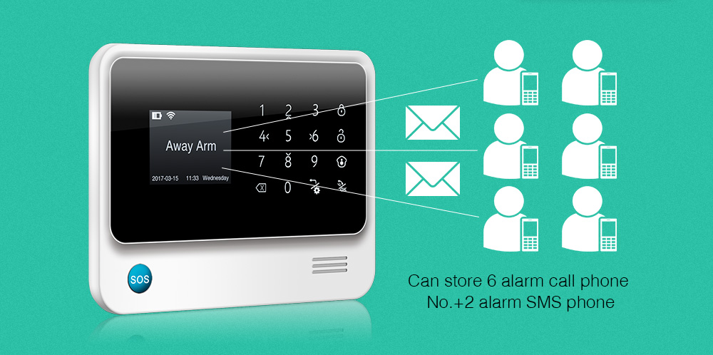 Golden Security G90B Plus WiFi GSM GPRS Wireless Home Burglar Alarm System APP Control Support CID Protocol 12