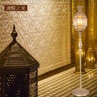 Arab golden led e14 bulb copper luxury floor lamp antique European style creative floor light living room restaurant lighting