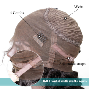 Image 5 - Rosabeauty Long 360 Lace Frontal Wig pre plucked with baby Hair Brazilian Straight Lace Front Human Hair Wigs for black women