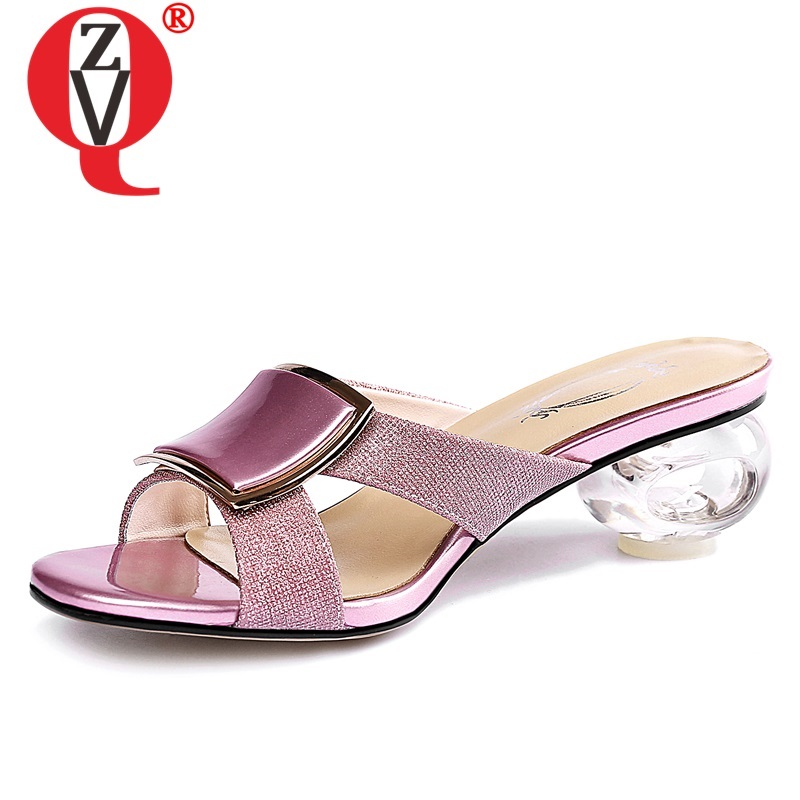 ZVQ hot sale shoes woman 2019 summer new fashion sexy open toe bling woman slippers outside