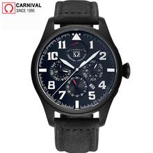 цены Carnival Sport Diver Automatic Watch Men 150M Waterproof Mens Mechanical Watches Luminous Energy Display Male Clock kol saati