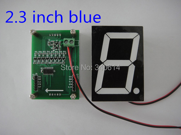 Factory price! high quality 2.3 inch blue led 7 segment display for arduino MCU 4pcs/lot free shipping