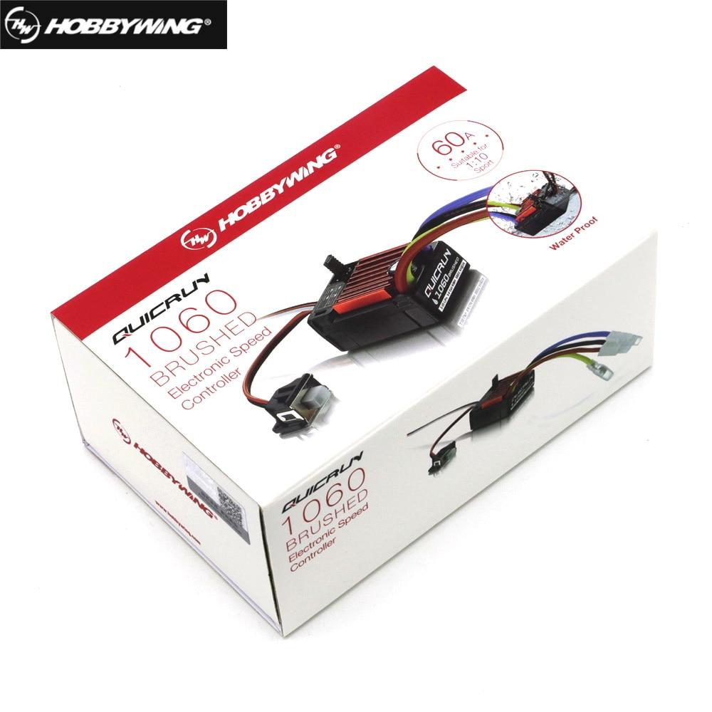 Оригинальный электронный контроллер скорости HobbyWing QuicRun 1060 60A, ESC для 1:10 RC автомобиля, водонепроницаемый