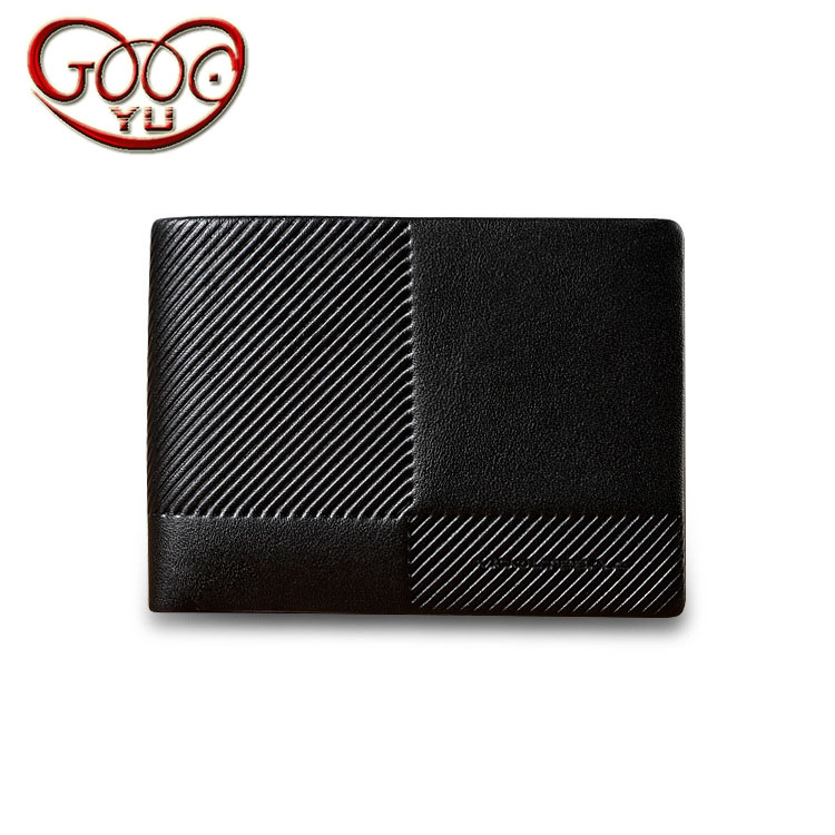 Mens business short paragraph purse top leather cross-section multi-card bit leather wallet