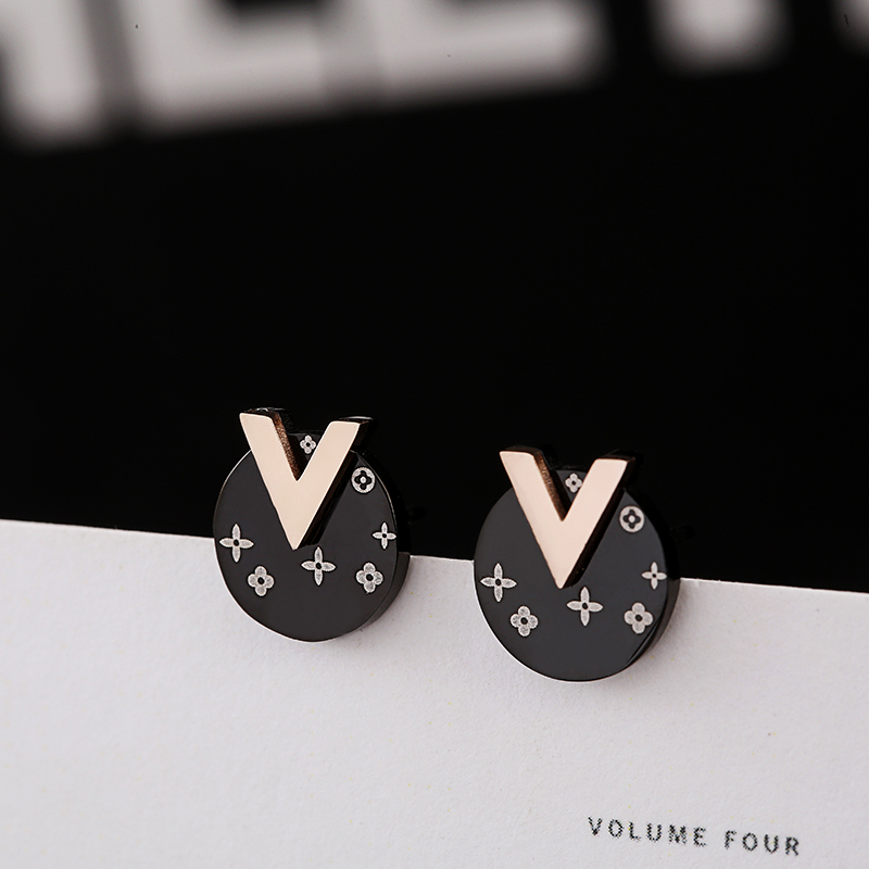 Stud Earrings Korean Style Female Simple Stainless Steel Earrings for Women Fashion Boucle D'oreille Pretty Jewelry Brincos