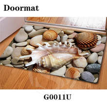 Free Shipping beautiful stone Zen stone Custom Doormat Home Decor Bedroom Carpet Classic Durable Floor Mat SQ0630-P0092(China)
