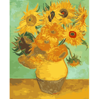 Framless Copy Van Gogh Sunflowers Diy Digital Oil Painting On Canvas Painting By Numbers Decorative Picture