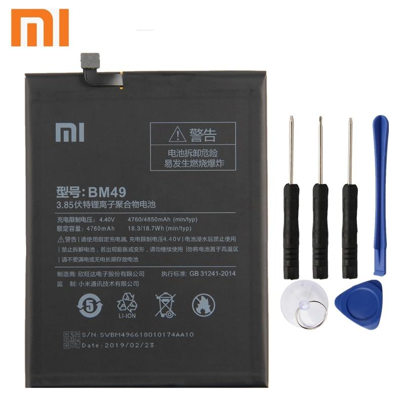 Xiao Mi Xiaomi BM49 Phone Battery For mi Max 4760mAh Original + Tool