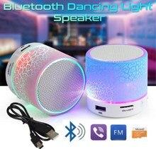 LED Портативный Mini Bluetooth Динамик S Беспроводной Hands Free Динамик с TF USB FM микрофон музыкальный для мобильного телефона iphone 6S 7