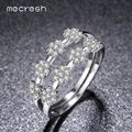 Mecresh Classic CZ Pave Bridal Sets Rings Gold Plated Flower Shape 2017 New Fashion Wedding Jewelry for Women Bague Femme JZ037