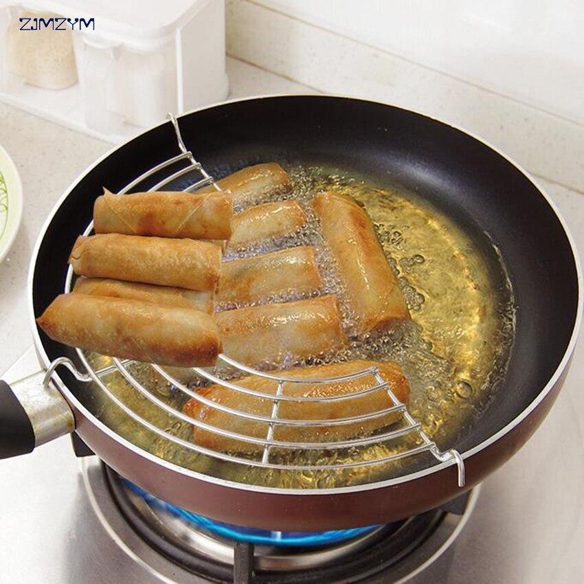 Semicircular Stainless Steel Steam Rack Pot Holder Shelving Insulation Steam Tray Lek Oil Rack Cooking Tool