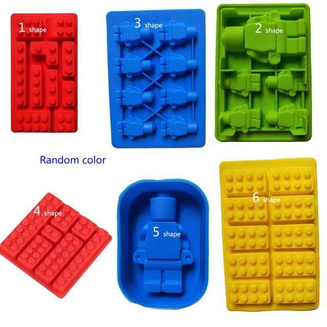 12 style Lego Brick Blocks Shaped Cake Mold Star Wars Ice Tray Silicone  Chocolate Candy Mold X-Wing Ice cube Tray Fondant Moulds