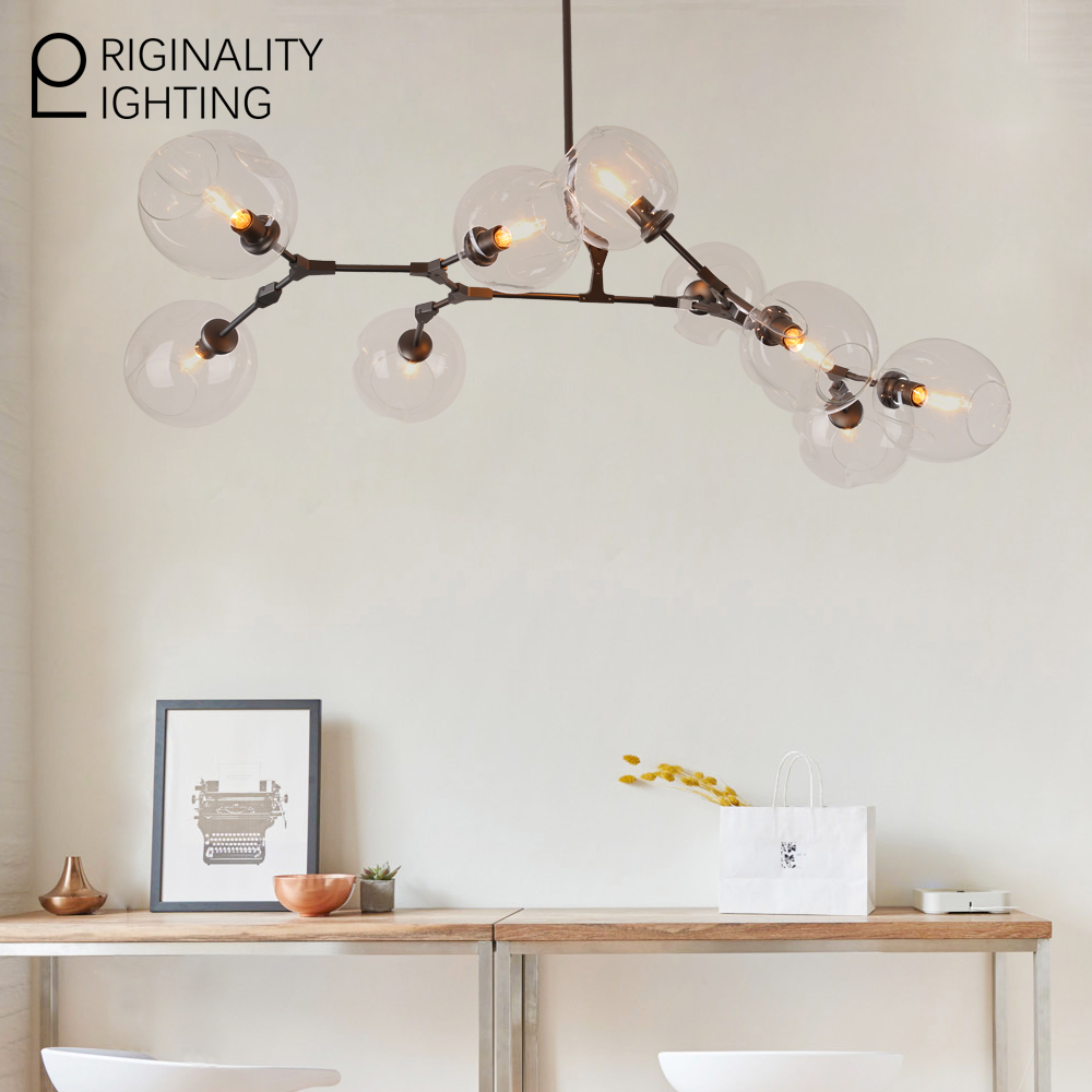 Glass Lampshade light fixtures 9 Globes Branching Bubbles lamps for ...