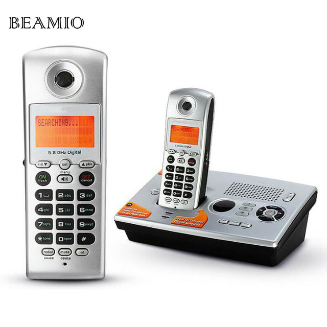 5.8Ghz Digital Cordless Phone with Answer System Call ID Mute For ...