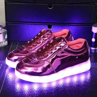 2017 Fashion Girls Light Up Led Luminous Shoes Color Glowing Casual With New Simulation Sole Charge