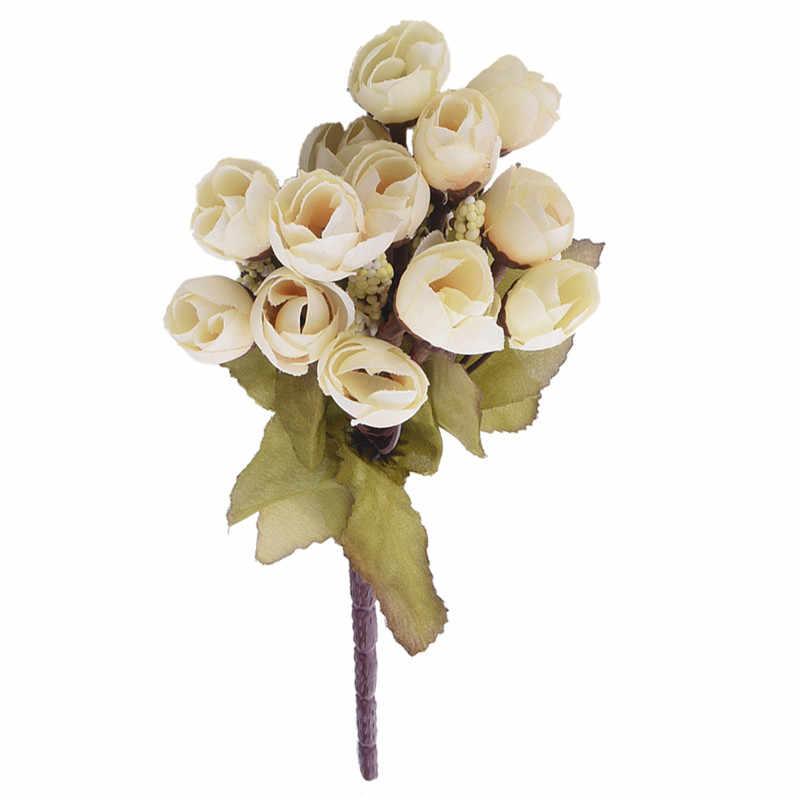 15 blume Köpfe Künstliche Kamelie Blumen Floral Bouquet Garten Party Decor Für Home Wohnzimmer Hochzeit Dekoration