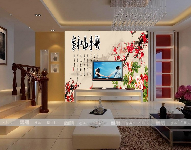 Customized large mural TV background wall paper the living room bedroom decorative painting Chinese calligraphy wallpaper wealth vintage beautiful mahogany living room large mural wallpaper living room bedroom wallpaper painting tv background wall wallpaper