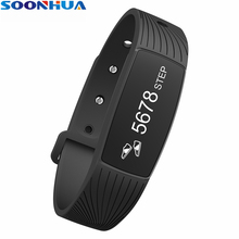SOONHUA D08A Smart Wristband Waterproof Sports Heart Rate Fitness Tracker Pedometer Smart Bracelet Band Watch for IOS Android