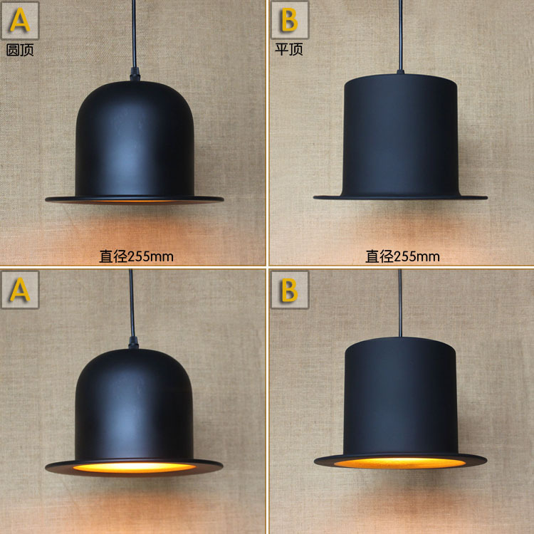 Contracted Contemporary Creative New Popular Hat Chimney Pendant Lamp Clothing Store Bar Decoration Light  D225MM Free Shipping personalized clothing store track lamp