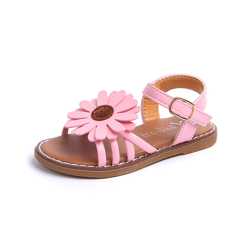 Summer Fashion Flower Girls Sandals shoes Size 21 36 Flat With Baby Girls  Casuals Sandals shoes for baby slides girls shoes-in Sandals from Mother    Kids on ... b54bdc834b43