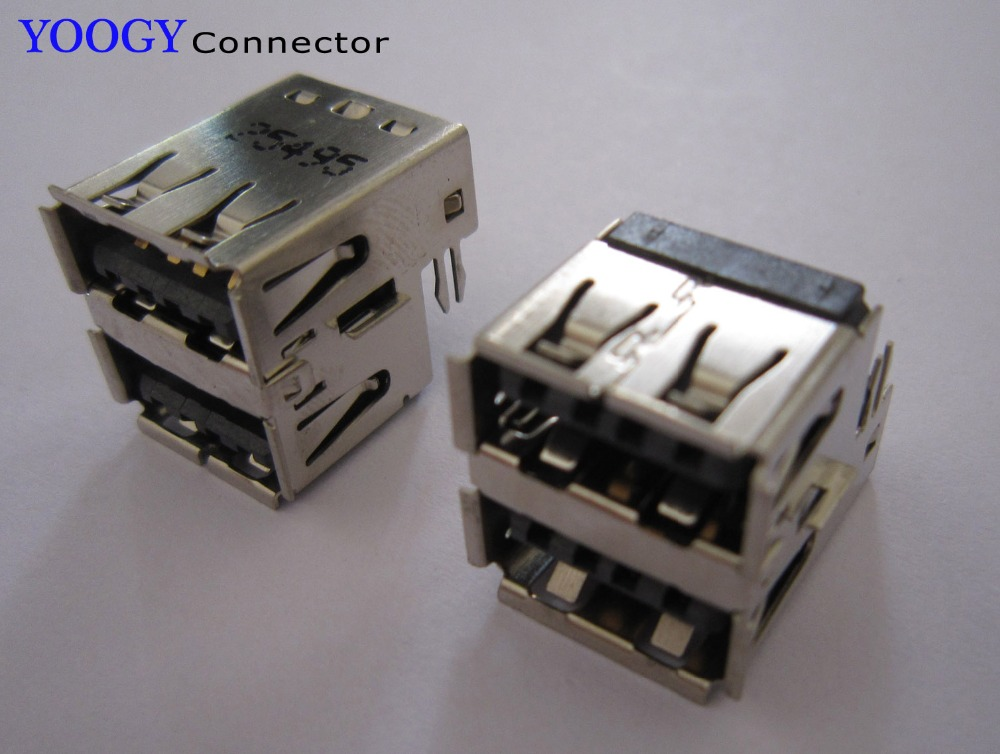 Двухслойная USB розетка подходит для Dell Inspiron 1300 B120/130 Latitude E5410/5510 серия материнская плата для ноутбука женский usb разъем