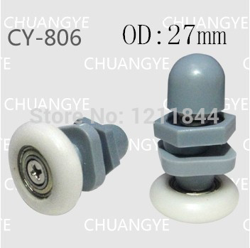OD:27mm nylon shower door pulley glass room tempered hardware