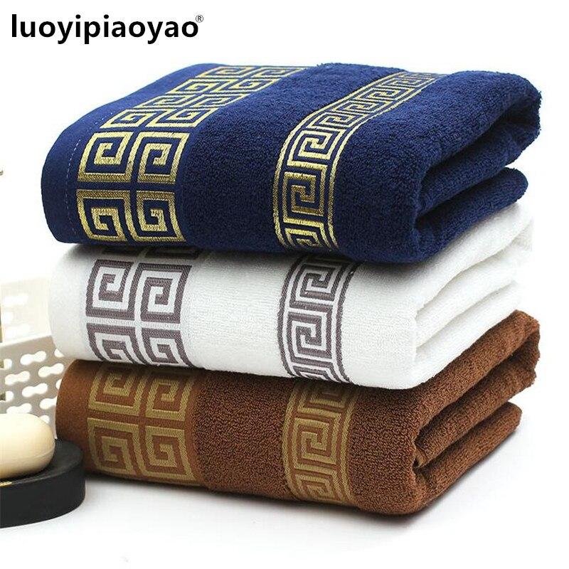 Entrega libre 100% de algodón suave engrosamiento Toalla de baño masculina mujeres comercial Toalla grande 75 cm * 150 cm