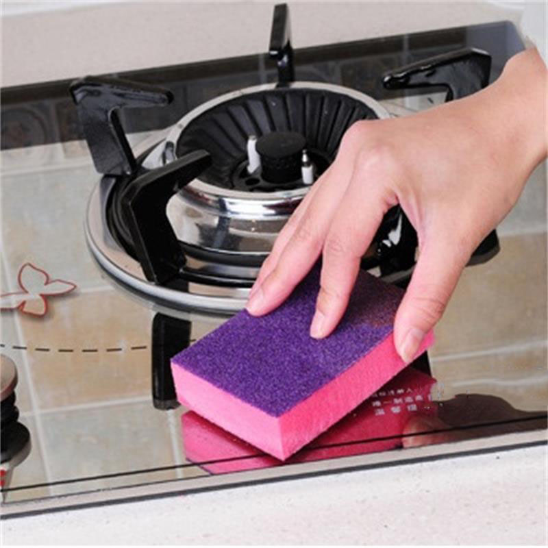 Image 3 - 1 Pcs Double sided Dual use Nano ceram Color Magic Sponge Cleaning Rust Decontamination Sponge Free shipping-in Sponges & Scouring Pads from Home & Garden