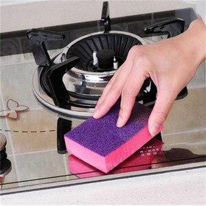 Image 3 - 1 Pcs Double sided Dual use Nano ceram Color Magic Sponge Cleaning Rust Decontamination Sponge Free shipping