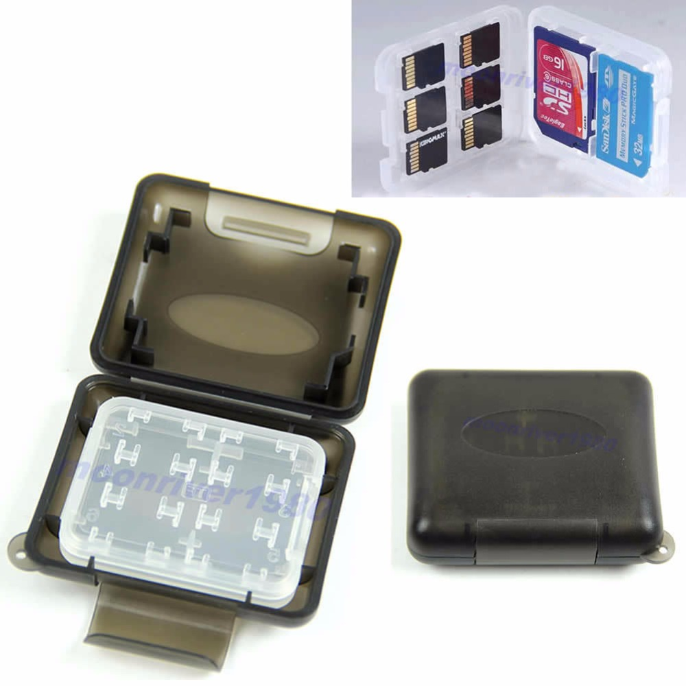 New Plastic Case For Micro SD TF Memory Card Storage Holder Box Protector For Micro SD/TF /SDHC/SDXC/MMC/MS ProDu Card