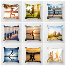 Fuwatacchi Jogging Motion Cushion Cover Sports Running Pillow for Decoration Home Sofa Bedroom Throw Pillowcases