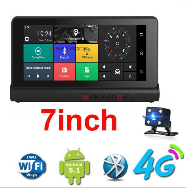7inch 4G ADAS Remote Monitor font b Car b font DVR Camera Mirror font b GPS