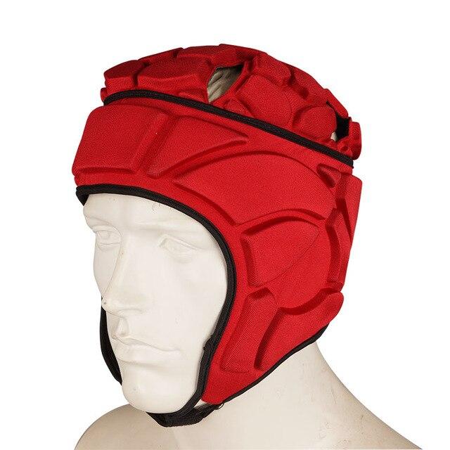 Регби вратарь футбольные майки тренировочные штаны наколенники EVA губка футболка для американского футбола наколенники защита голени сноуборд шлем - Цвет: red helmet