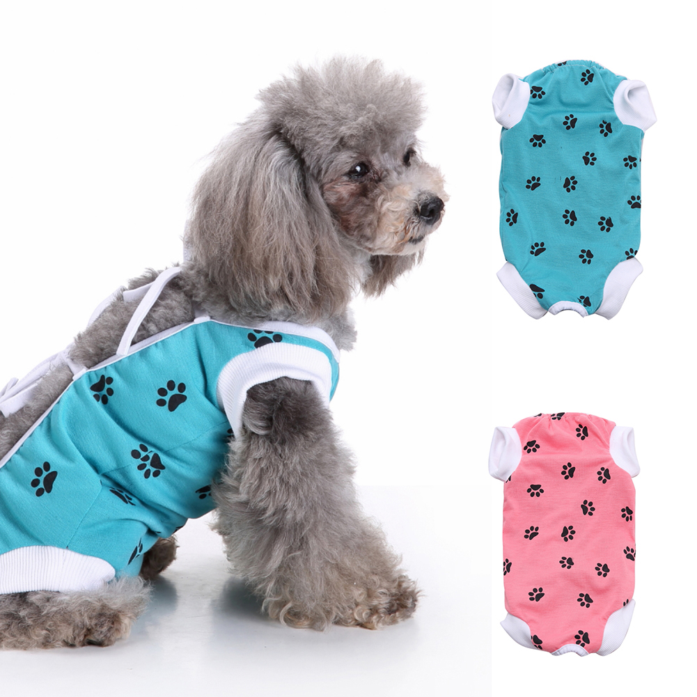 Footprint Medical Pet Dog Veterinary Operation Surgery Wound Recovery Clothes