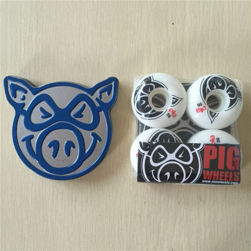 Skateboard parts mixed PIG and LUCKY skate bearing with Multi skateboarding wheels for Pro Sk8er and decks