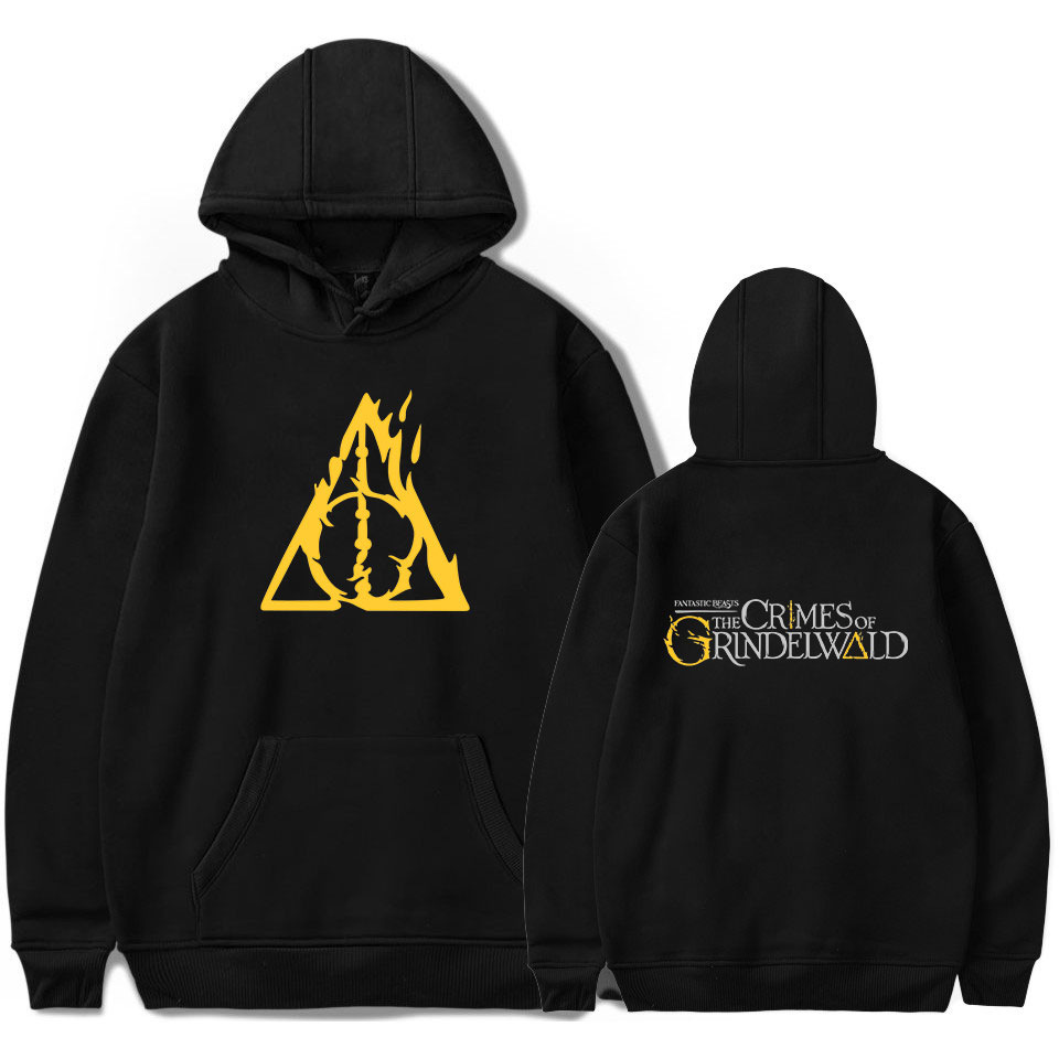Men Hoodies Fantastic Beasts and Where to Find Them Letter Print Hooded Pullover Sweatshirt Fashion Casual Hoodie
