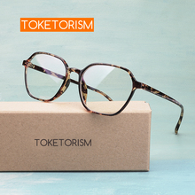 Toketorism designer polygon glasses frame clear lens eyeglasses women optical accessories 9042