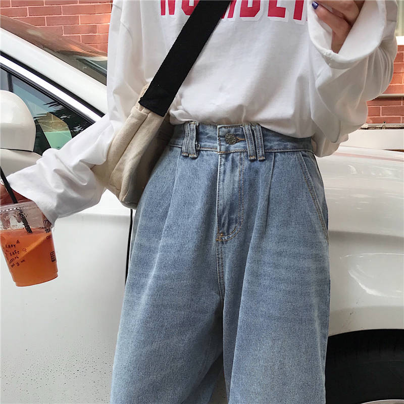 Women s Plus Size Jeans Harem For Women Loose Vintage Light Blue Women 39 s Jeans Pants Boyfriend Denim in Jeans from Women 39 s Clothing