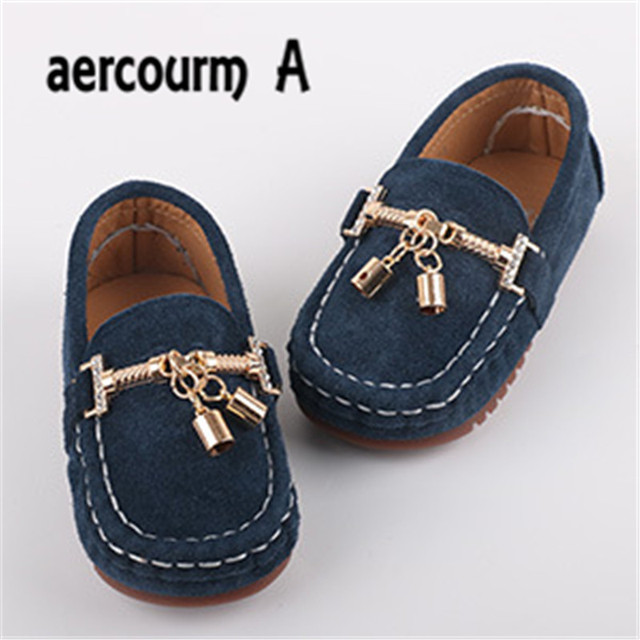 Aercourm A 2017 Genuine Leather Children's Shoes Girls Spring New Single Shoes Boy Girls Boat Shoes 1-5 Years Children Sneakers