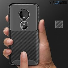 New Carbon Fiber Matte Phone Case For Motorola G7 P30 Note G6 Plus E5 Play Soft Silicon Back Cover For Moto Z3 Play One Power(China)