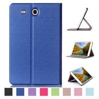 2016 Luxury Flip Leather Case For Samsung Galaxy Tab E 9 6 Case For Samsung Galaxy