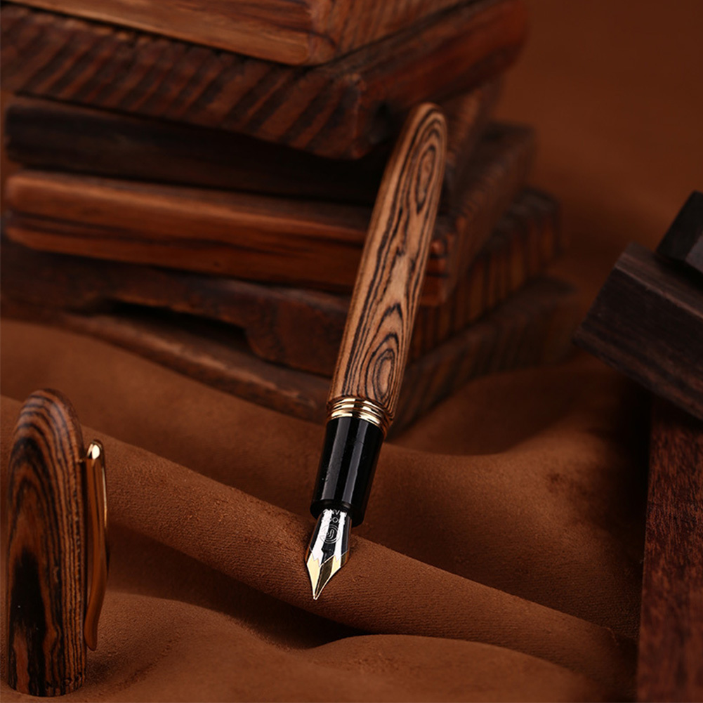 MOONMAN M6 Portable Non Slip Solid Wood Stationery Ink Gift Box Smooth Fountain Pen Study Supplies Practise Device Home Office