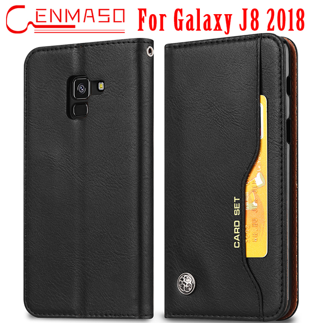half off 81452 21ef4 US $11.99 |Magnetic wallet case for Samsung Galaxy J8 2018 EU version flip  leather cover For Samsung J8 2018 Magnetic flip phone case-in Wallet Cases  ...